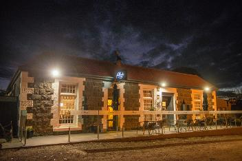 The Plough at night time