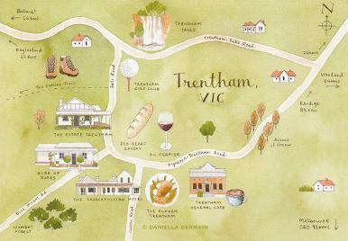 Travel Map of Trentham